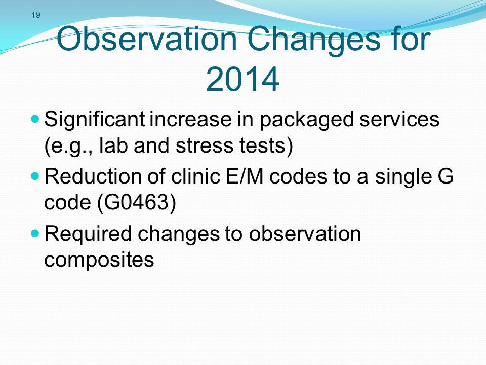 Observation Changes for 2014