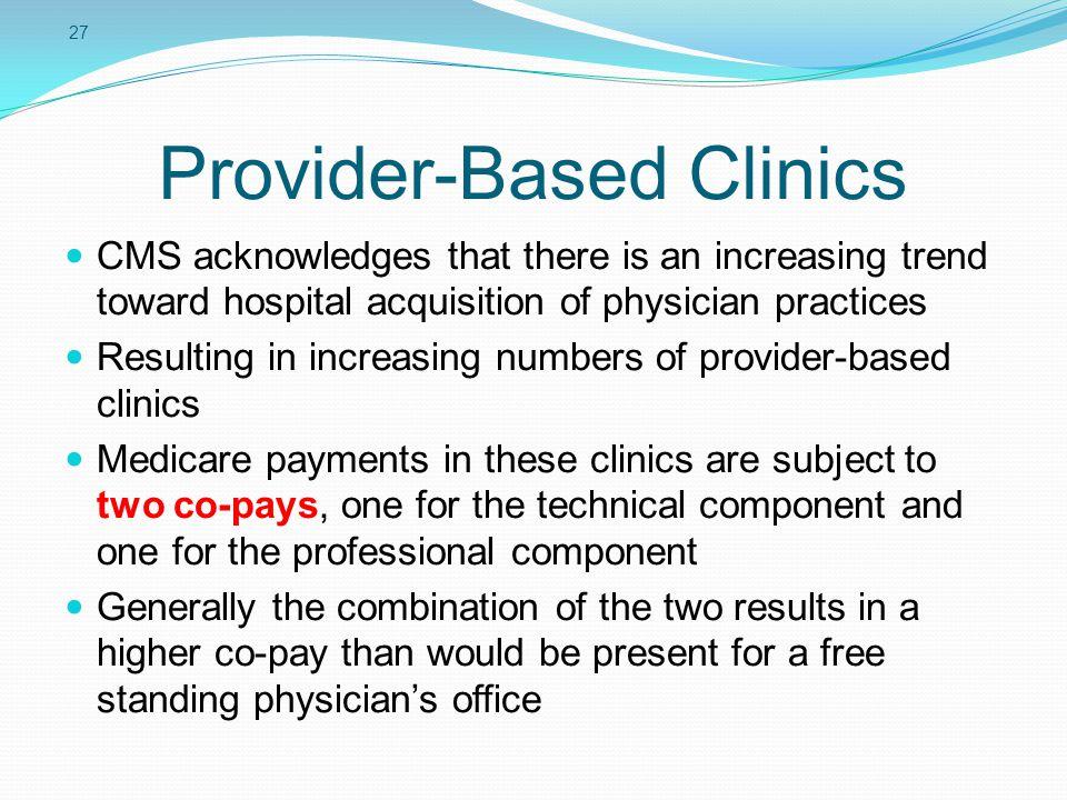 Provider-Based Clinics