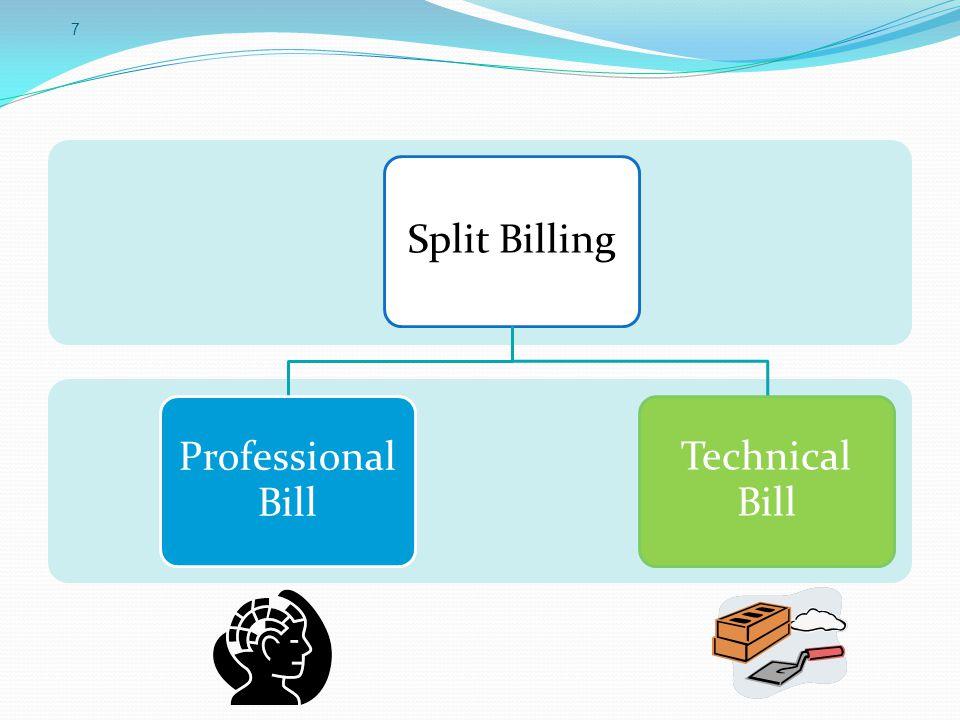 Split Billing Professional Bill Technical Bill