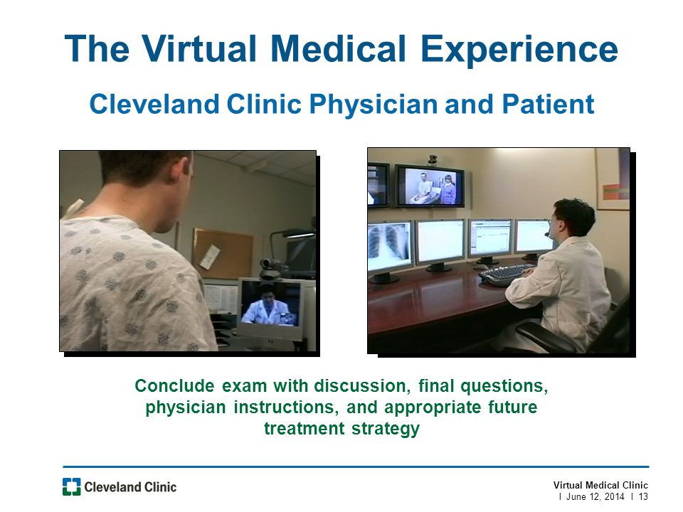 The Virtual Medical Experience Cleveland Clinic Physician and Patient