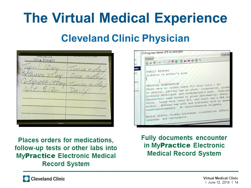 The Virtual Medical Experience Cleveland Clinic Physician