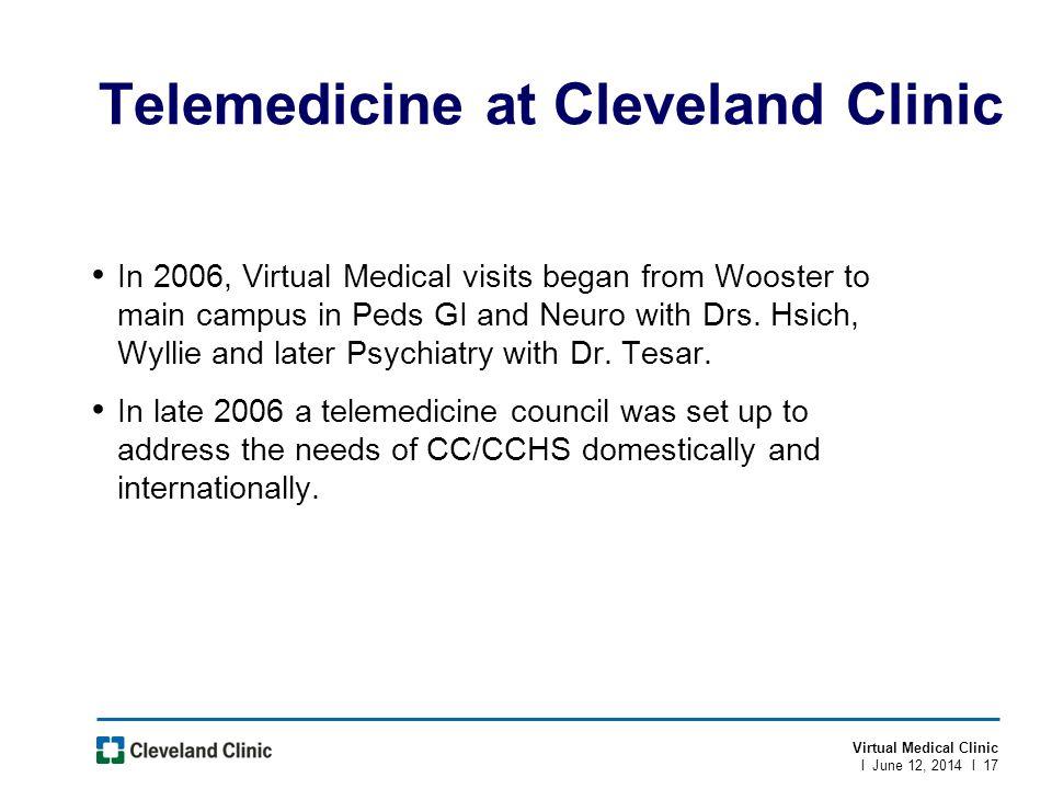 Telemedicine at Cleveland Clinic