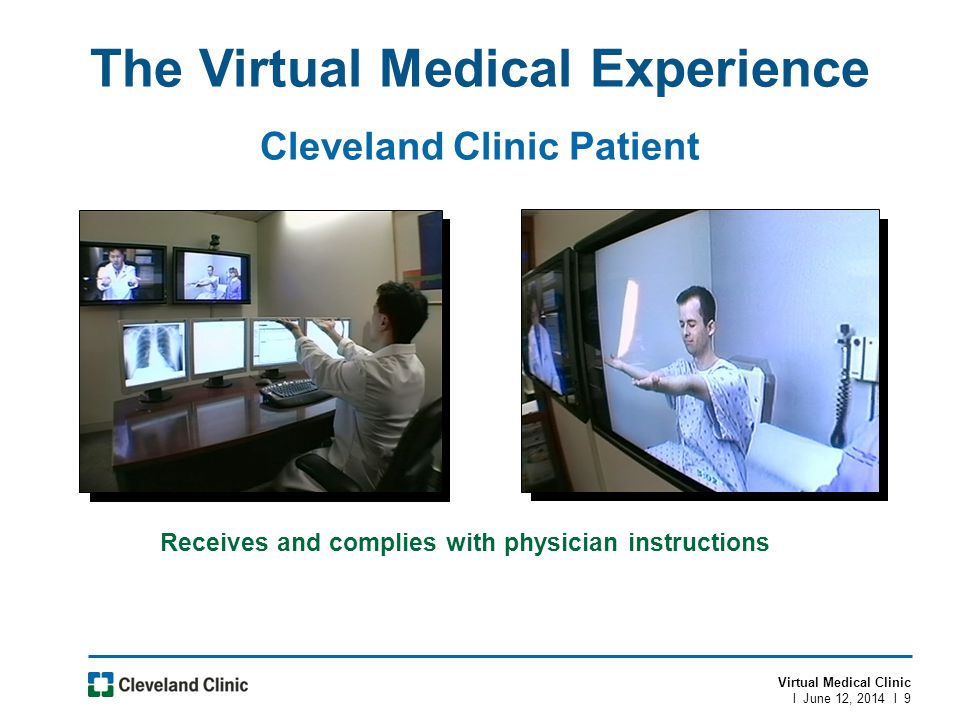 The Virtual Medical Experience Cleveland Clinic Patient