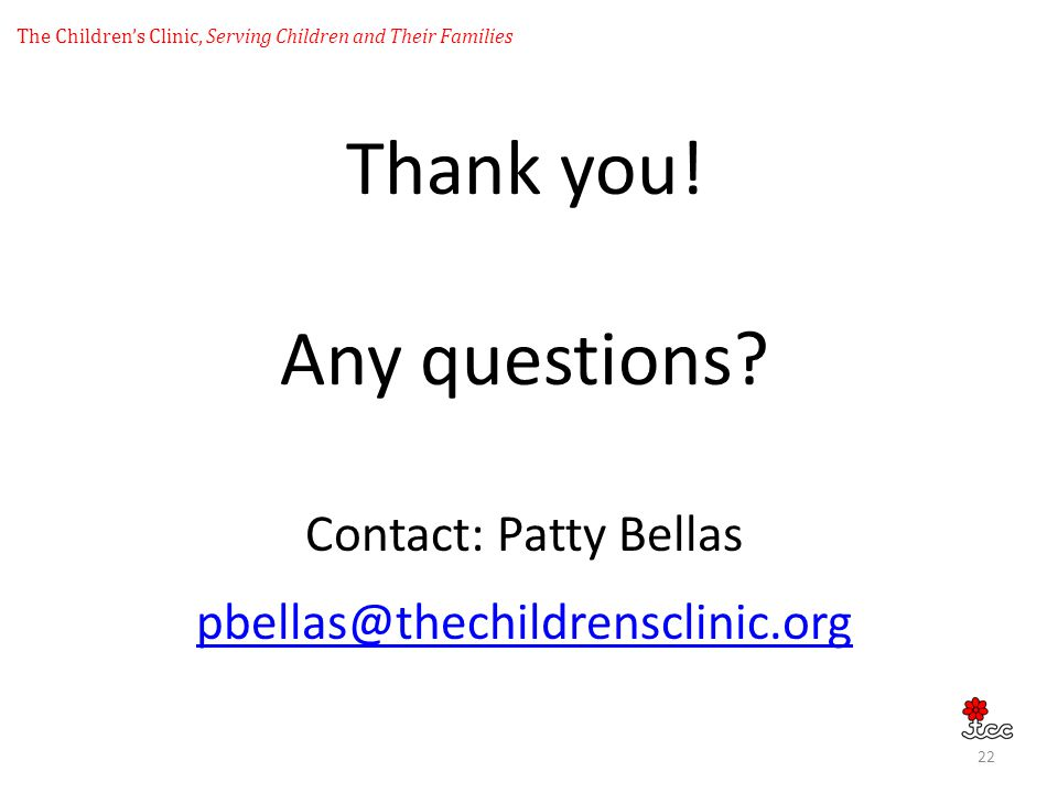 The Children's Clinic, Serving Children and Their Families