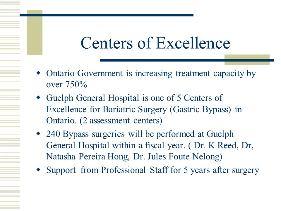 Centers of Excellence Ontario Government is increasing treatment capacity by over 750%