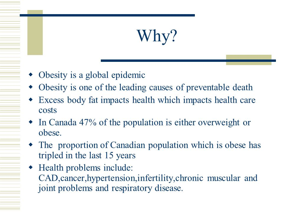 Why Obesity is a global epidemic