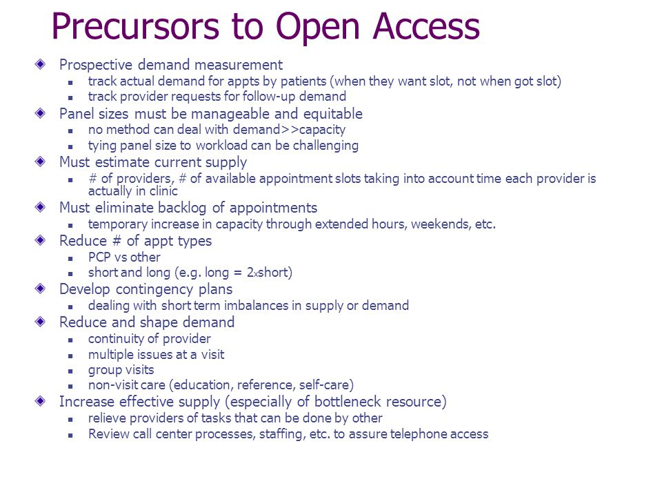 Precursors to Open Access