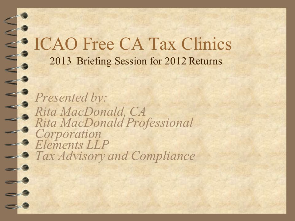ICAO Free CA Tax Clinics