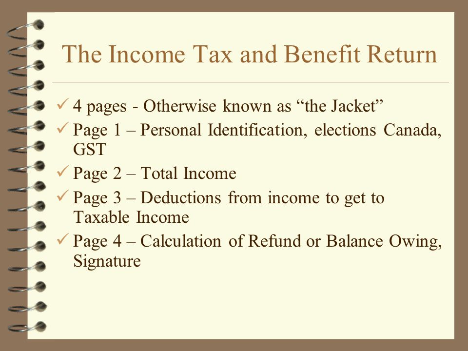 The Income Tax and Benefit Return