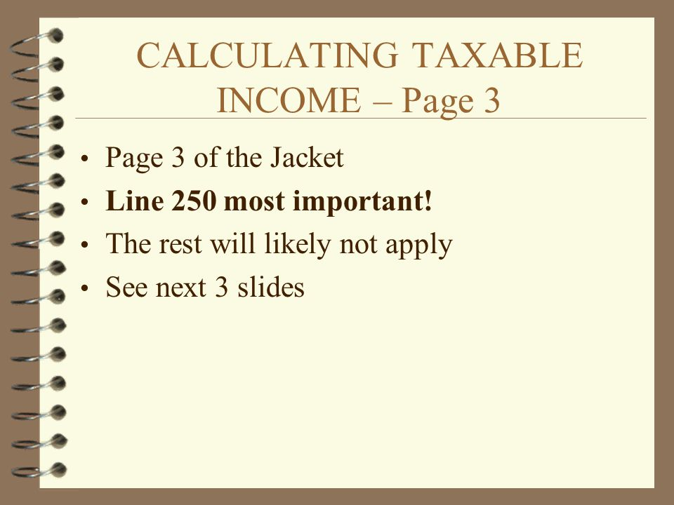 CALCULATING TAXABLE INCOME – Page 3