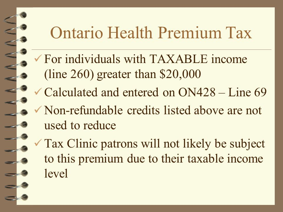 Ontario Health Premium Tax