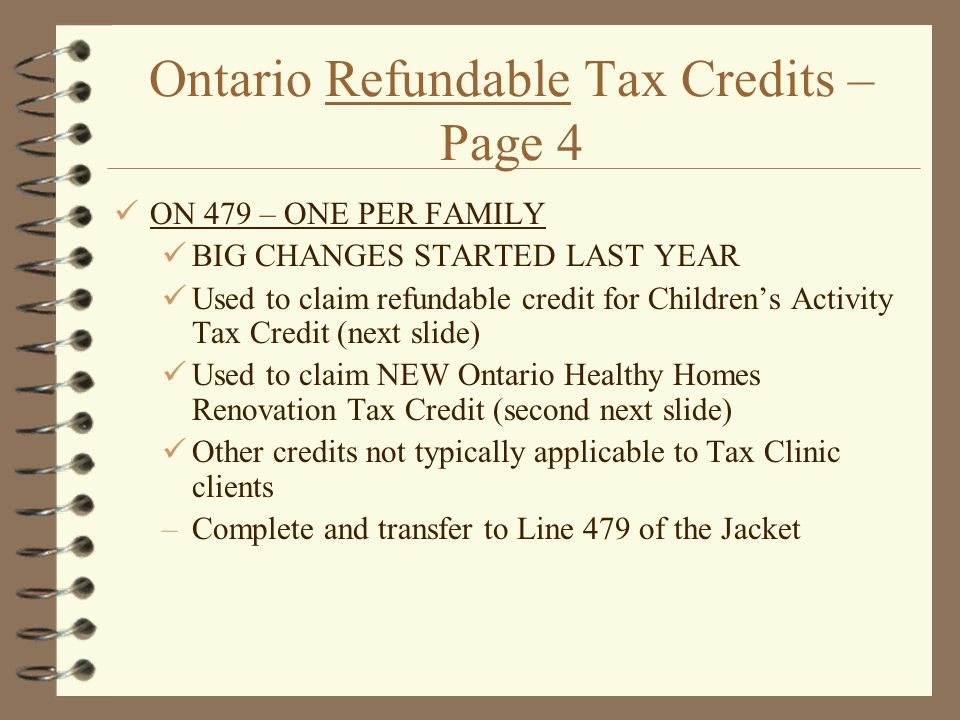Ontario Refundable Tax Credits – Page 4