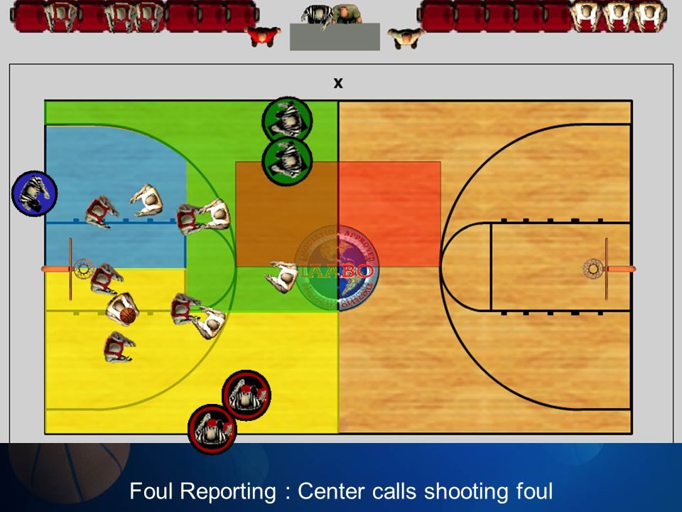 Foul Reporting : Center calls shooting foul