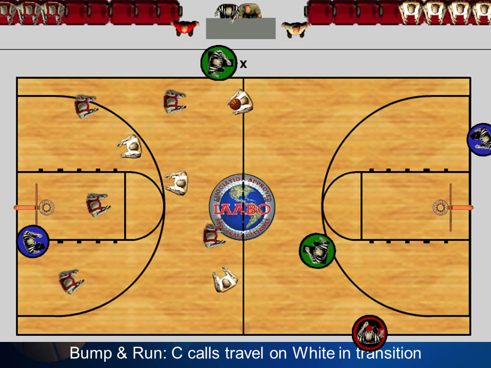 Bump & Run: C calls travel on White in transition