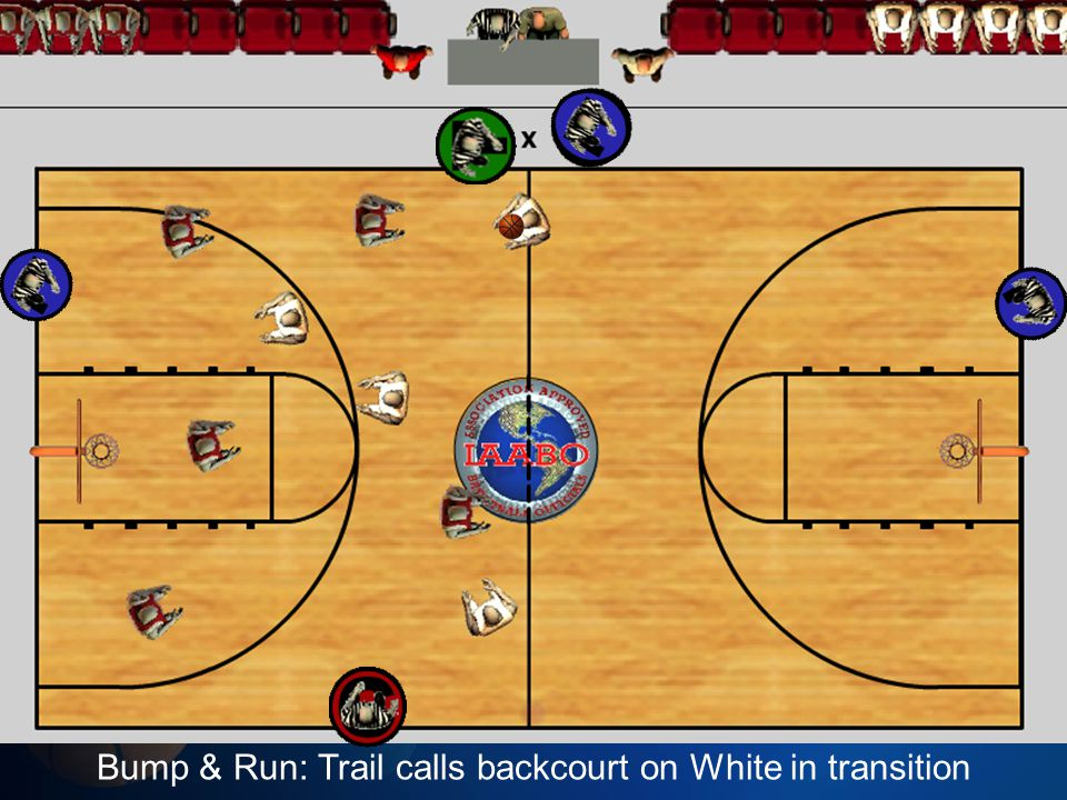 Bump & Run: Trail calls backcourt on White in transition