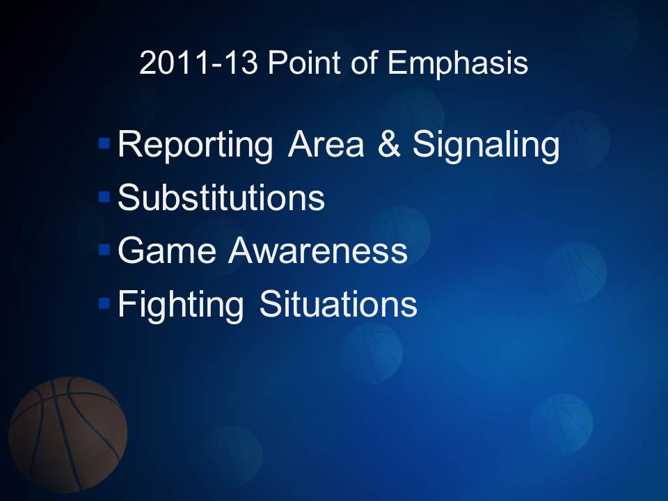 Reporting Area & Signaling Substitutions Game Awareness