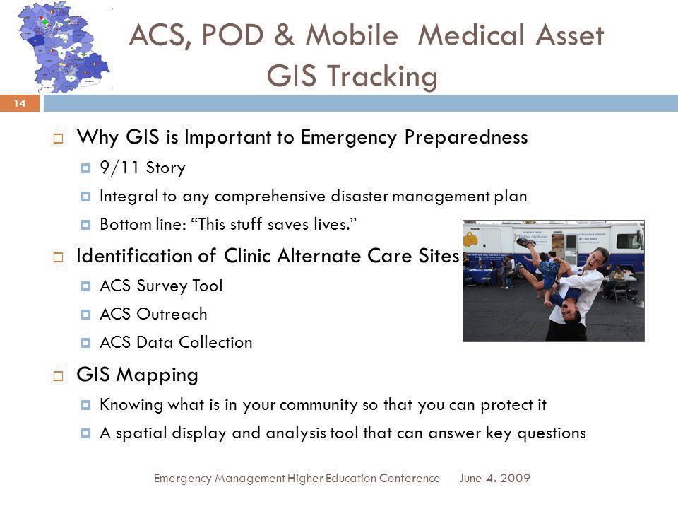 ACS, POD & Mobile Medical Asset GIS Tracking