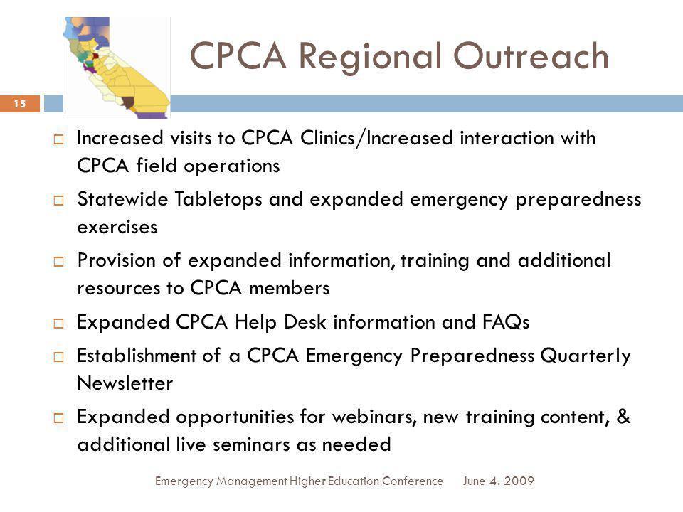 CPCA Regional Outreach