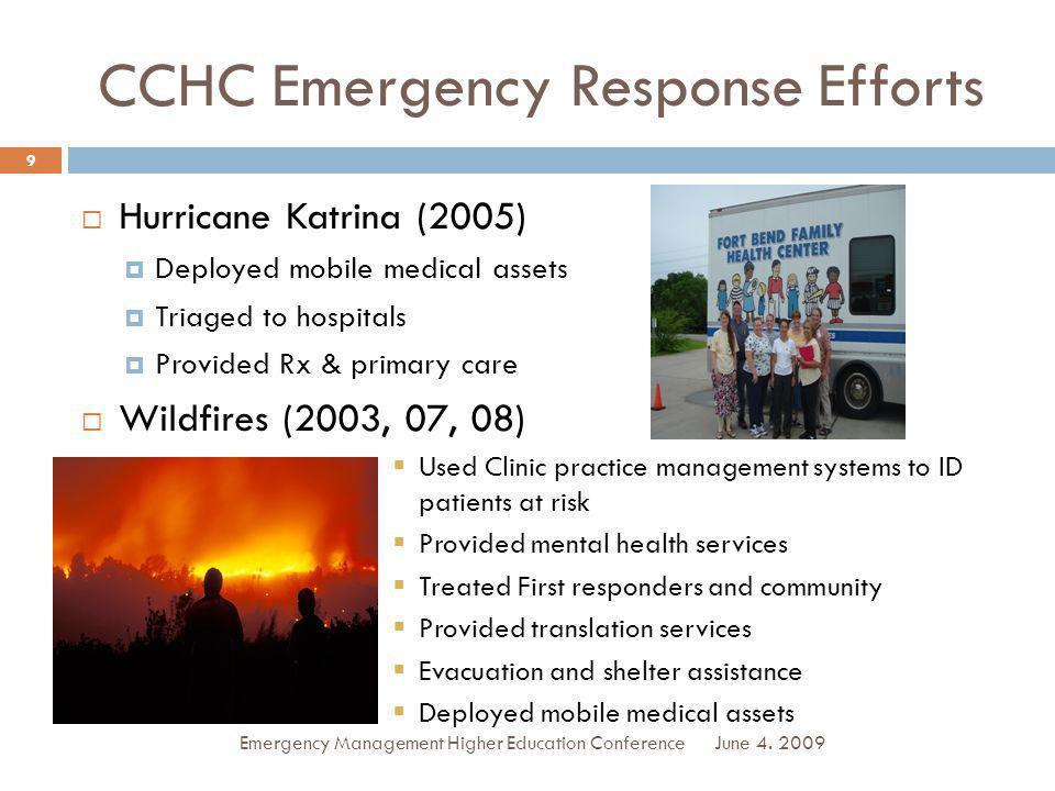 CCHC Emergency Response Efforts