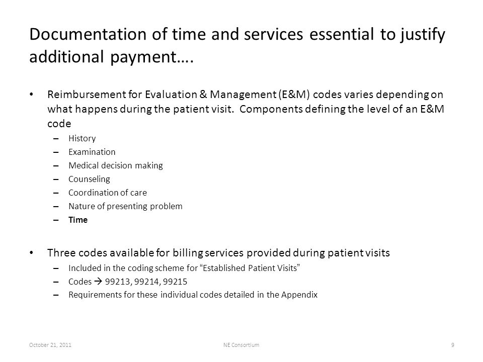 Potential for reimbursement…