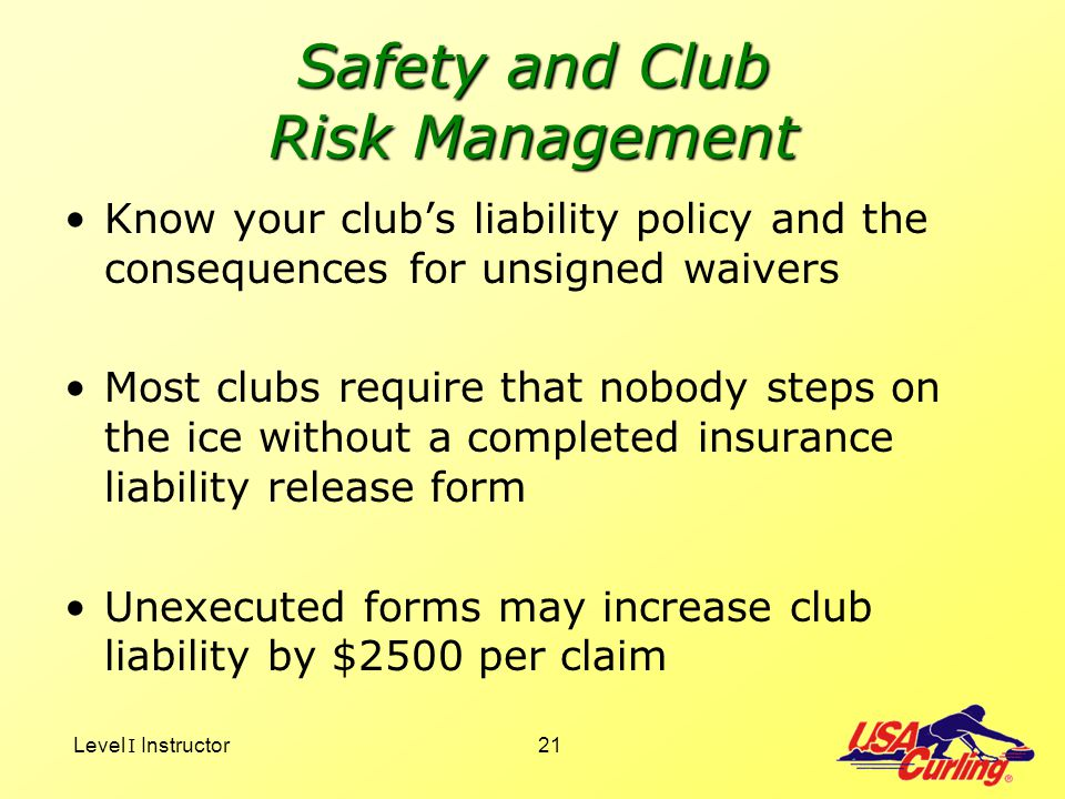 Safety and Club Risk Management