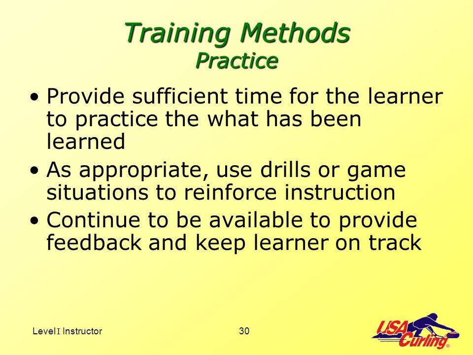 Training Methods Practice