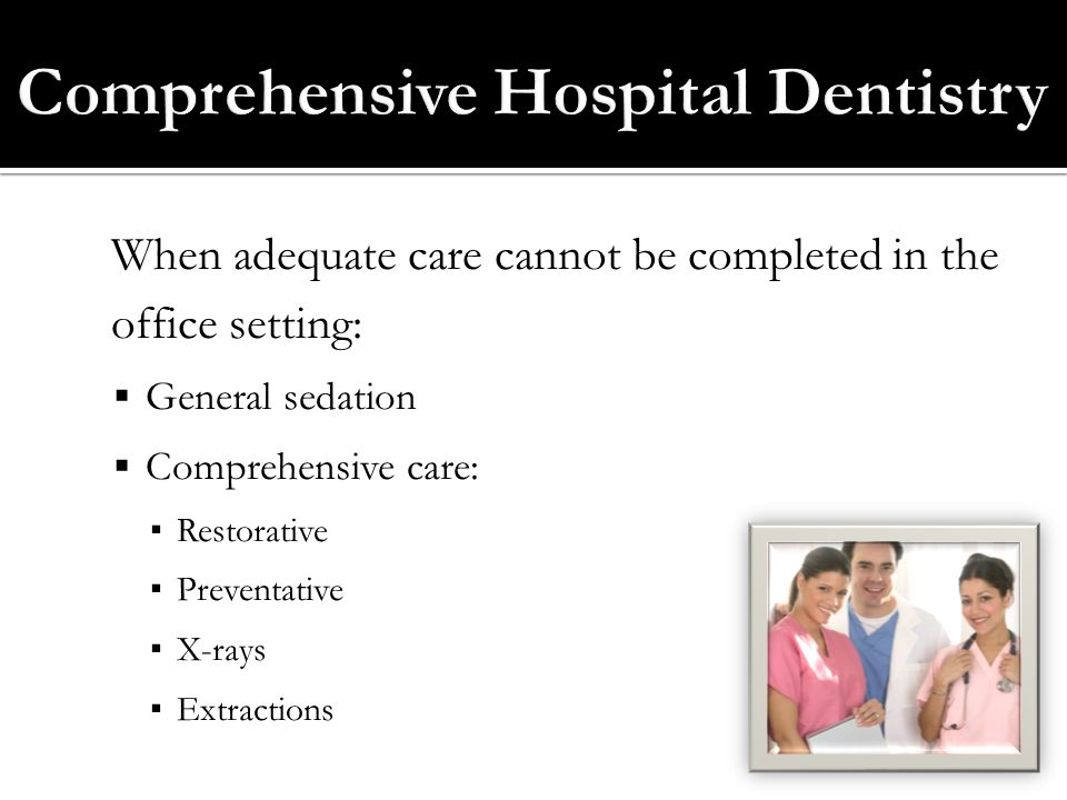 Comprehensive Hospital Dentistry
