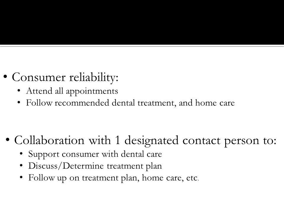 Consumer reliability: