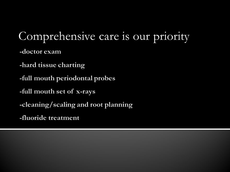 Comprehensive care is our priority