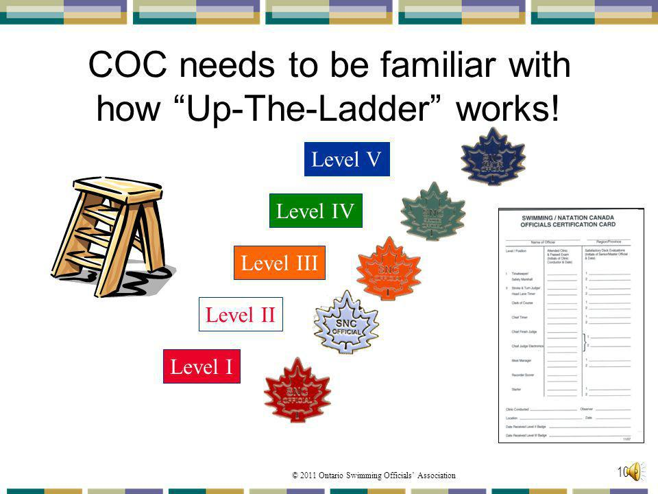 COC needs to be familiar with how Up-The-Ladder works!