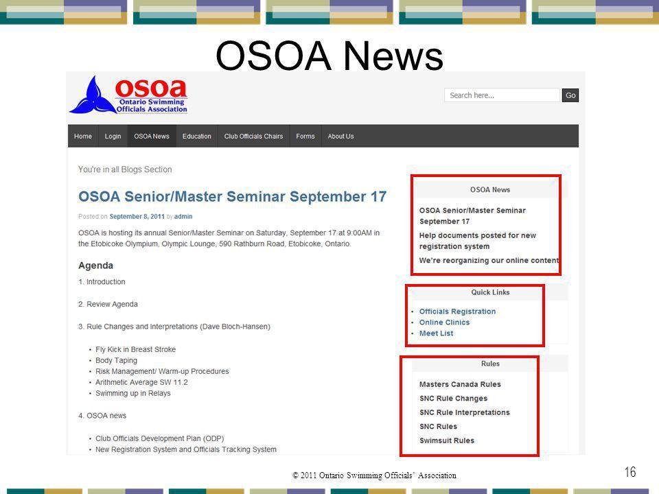 OSOA News