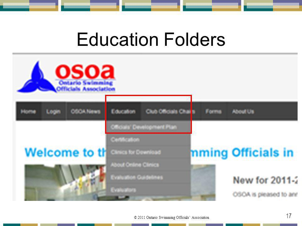 Education Folders Under the Education you will find a number of folders from the pulldown menu that we will speak about.
