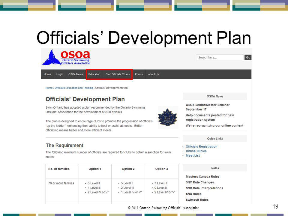 Officials' Development Plan