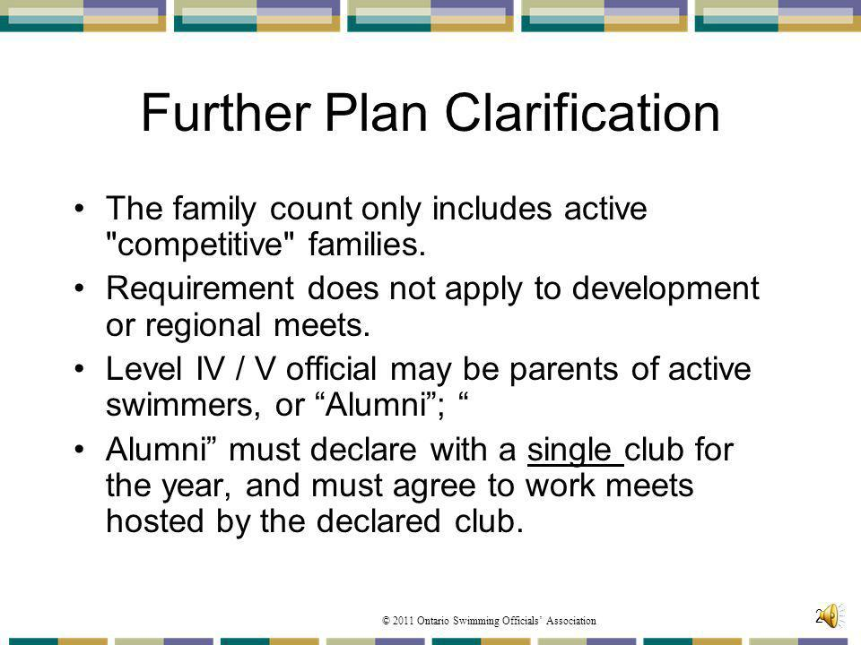 Further Plan Clarification