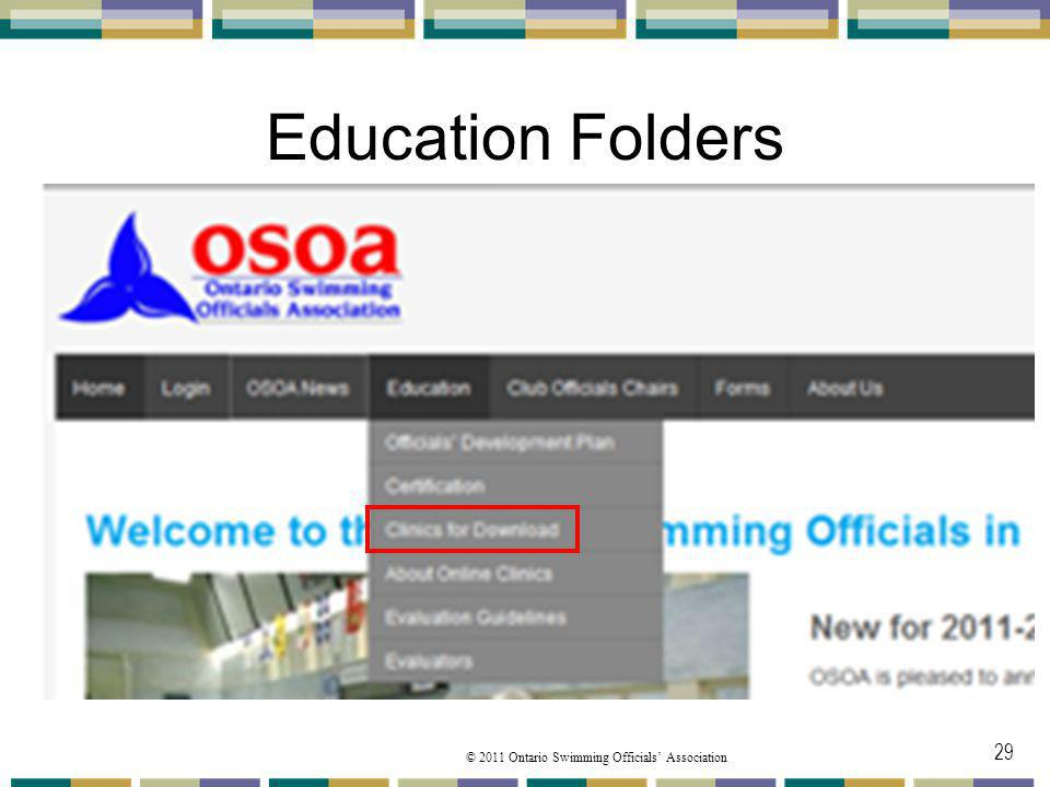 Education Folders Under the Education you will find from the pulldown menu. The Clinics for Download folder.