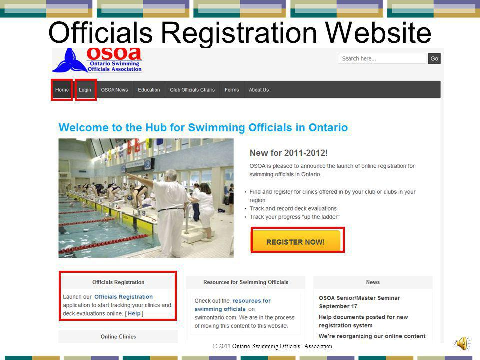 Officials Registration Website