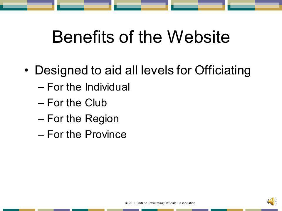 Benefits of the Website