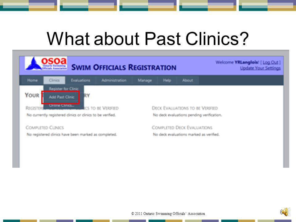 What about Past Clinics