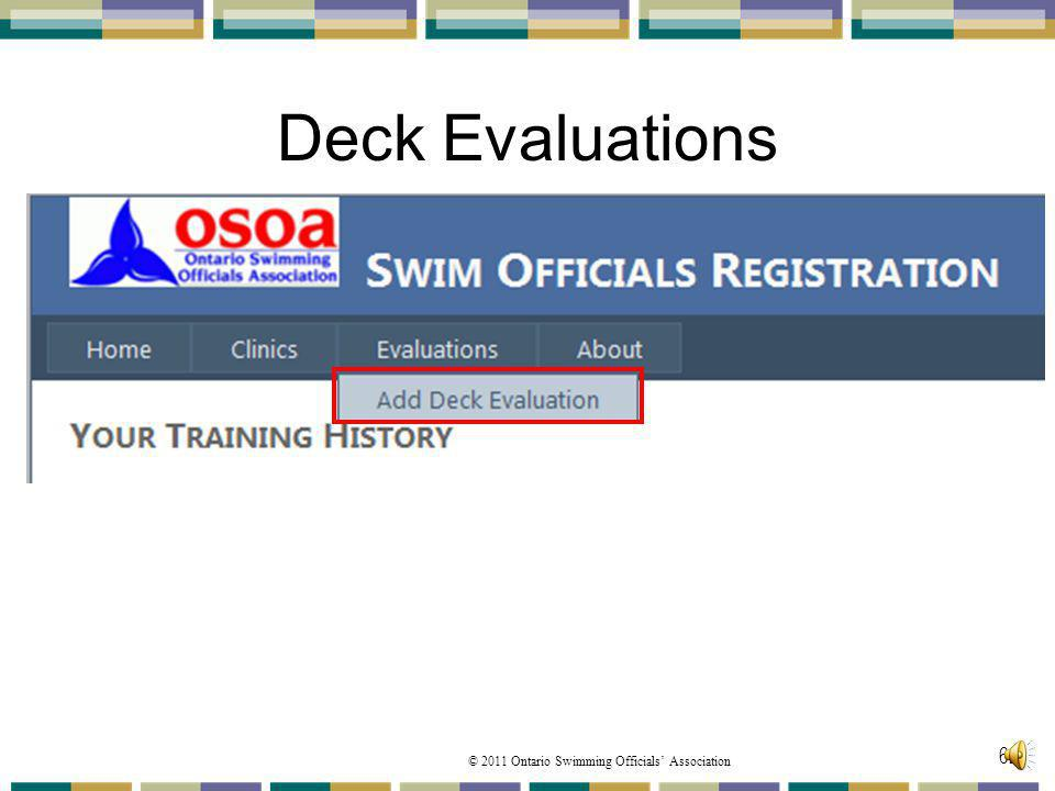 Deck Evaluations Now lets speak about Deck Evaluations'