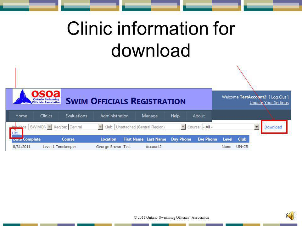 Clinic information for download