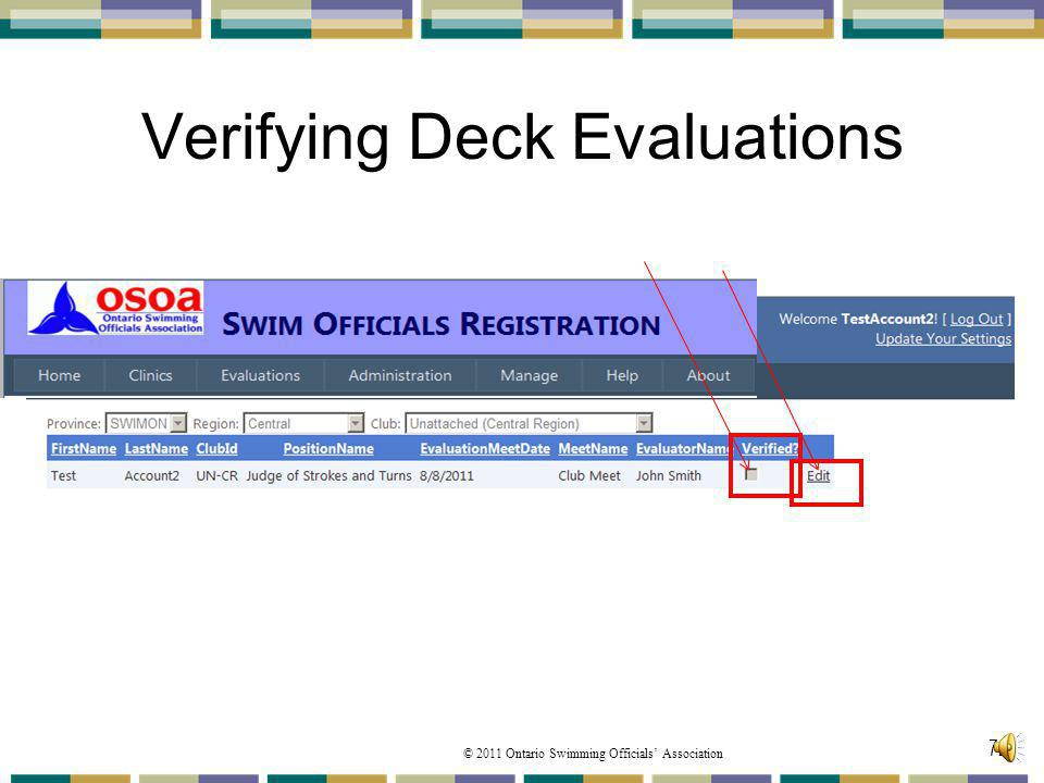 Verifying Deck Evaluations