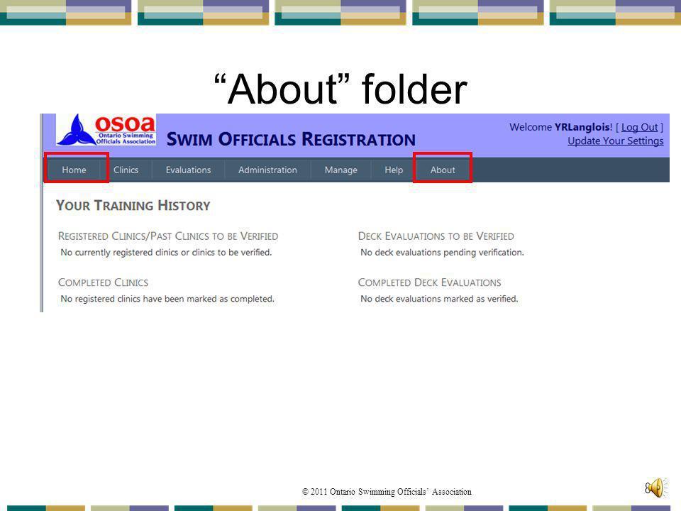 About folder