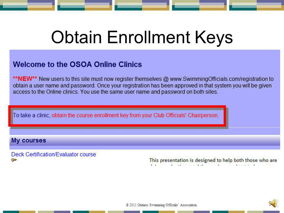 Obtain Enrollment Keys