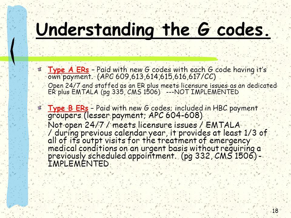Understanding the G codes.