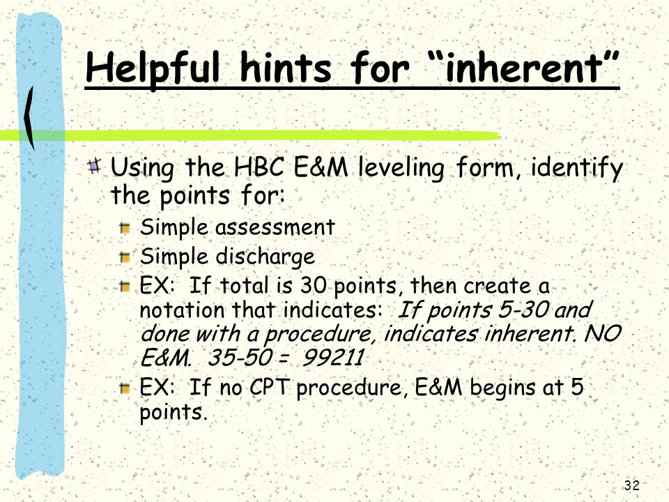 Helpful hints for inherent