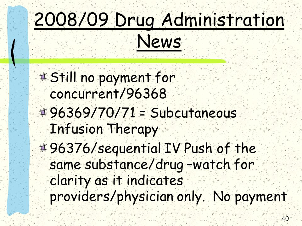 2008/09 Drug Administration News