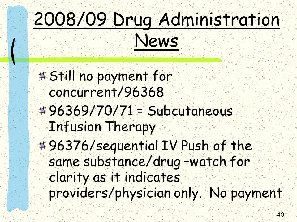 2008/09 Drug Administration News