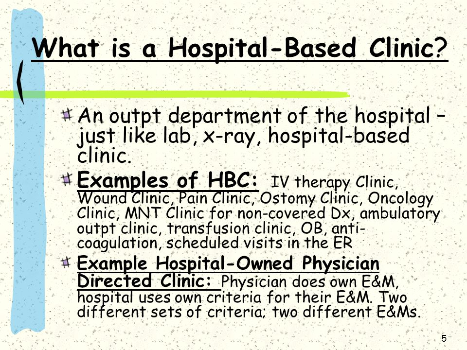 What is a Hospital-Based Clinic