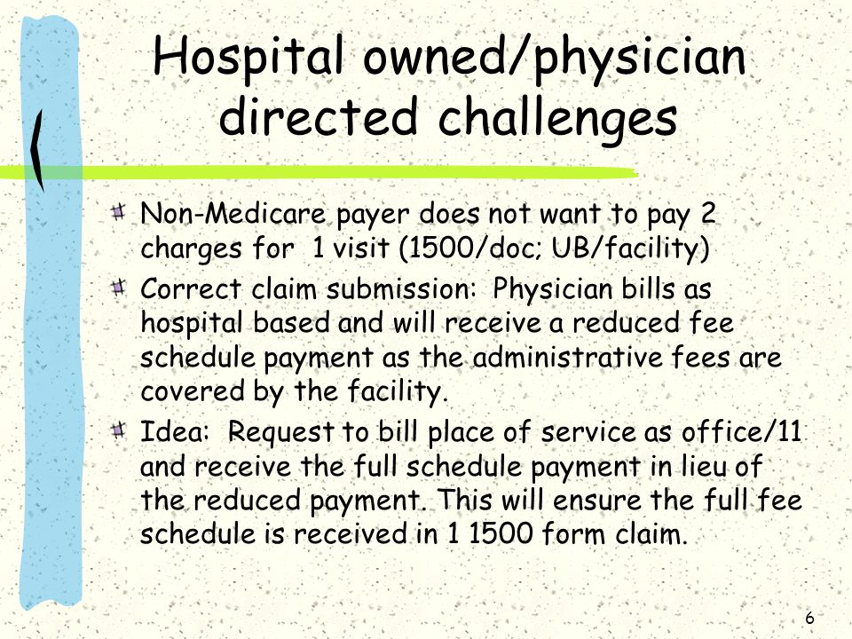 Hospital owned/physician directed challenges