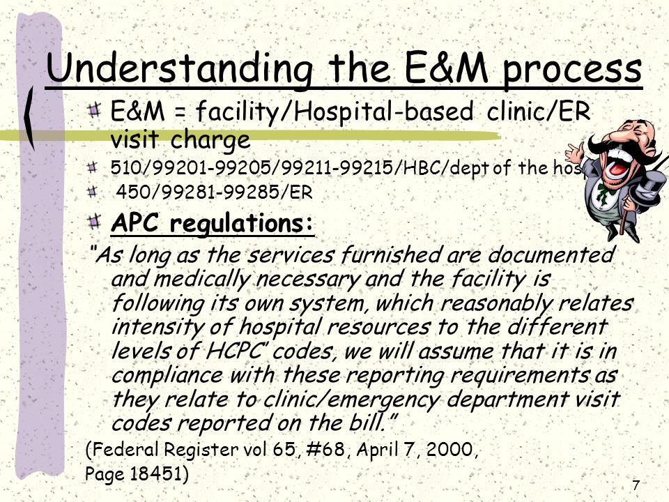 Understanding the E&M process